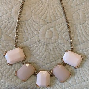 White and Gold Chunky Necklace Banana Republic